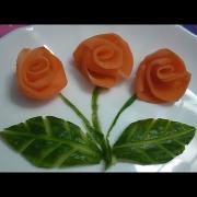 Розы из моркови и свеклы. Украшения из овощей. Цветы из овощей