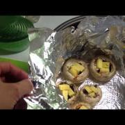 Запеченные грибочки с начинкой в Мультиварке. Вкусная и сочная закуска