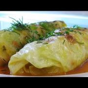 Голубцы, фаршированные овощами и рисом видео рецепт. Великий пост.
