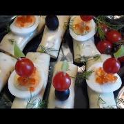 Сырные рулетики с грибами